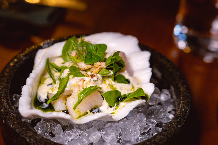 Scallop at Perch, a pop-up dining experience by the team behind The Nest, Shanghai. Photo by Rachel Gouk.