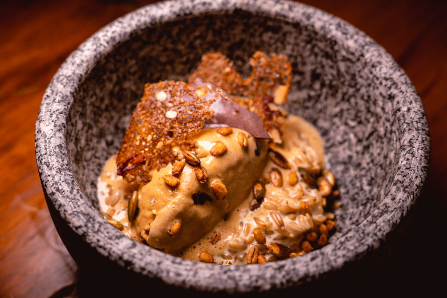 Oat porridge at Perch, a pop-up dining experience by the team behind The Nest, Shanghai. Photo by Rachel Gouk.