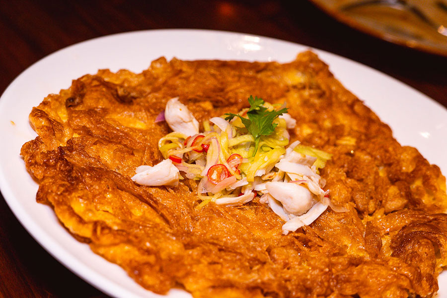 Thai omelet at Urban Cafe all-day dining and Southeast Asian restaurant at the Sukhothai Shanghai. Photo by Rachel Gouk