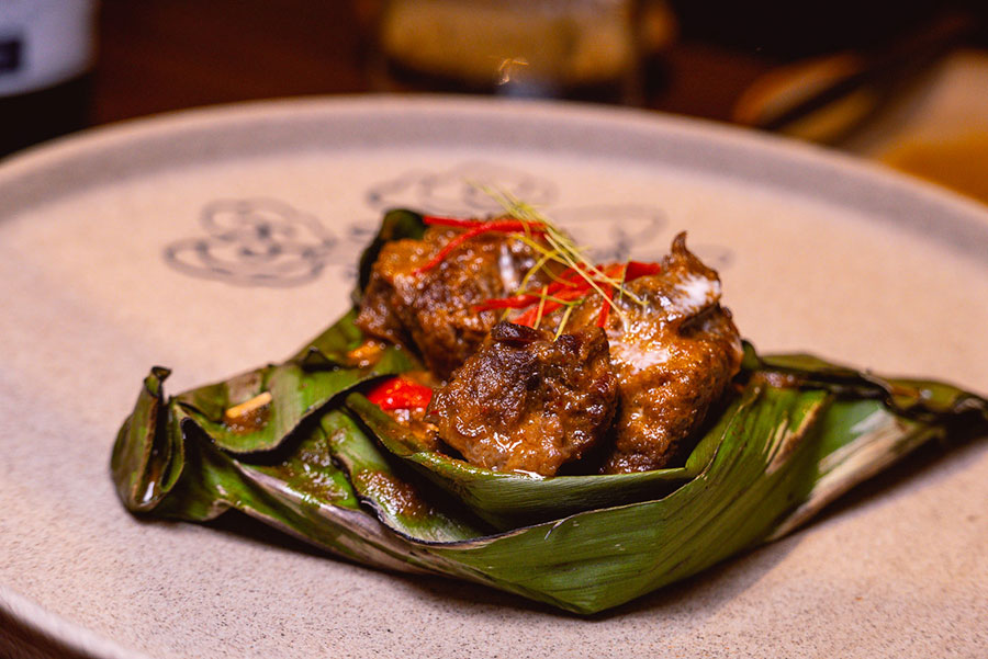 Beef Cheek Phaneng at Urban Cafe all-day dining and Southeast Asian restaurant at the Sukhothai Shanghai. Photo by Rachel Gouk