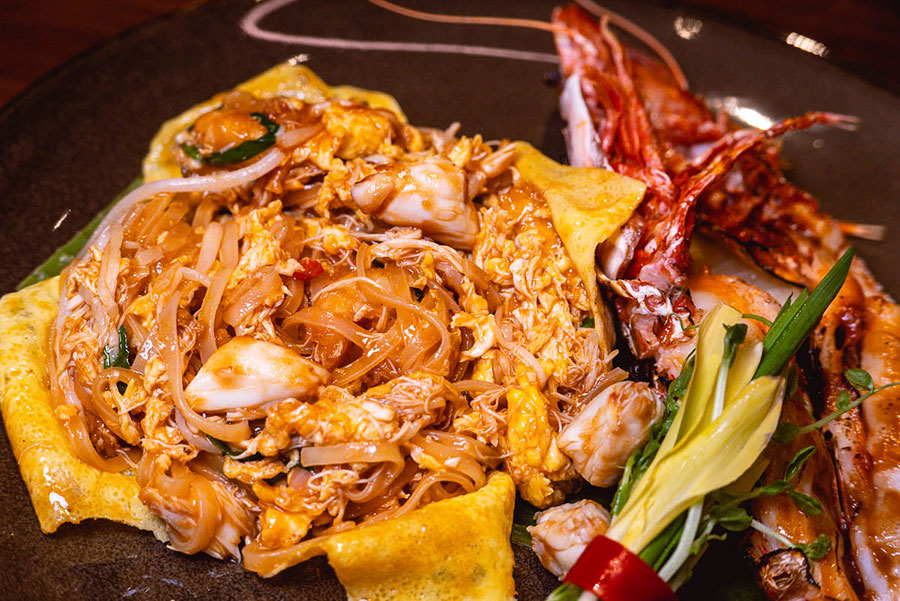 Pad thai at Urban Cafe all-day dining and Southeast Asian restaurant at the Sukhothai Shanghai. Photo by Rachel Gouk