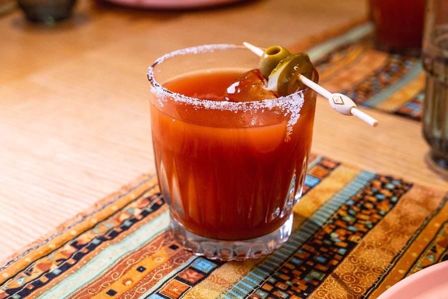 Bloody Mary at Birds of Paradise, a tiki bar and restaurant in Shanghai. Photo by Rachel Gouk.