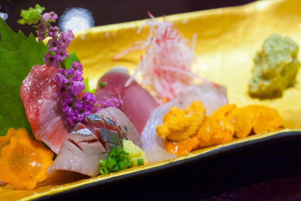 Sashimi at Machiya, a Japanese restaurant in Shanghai. Photos by Rachel Gouk.