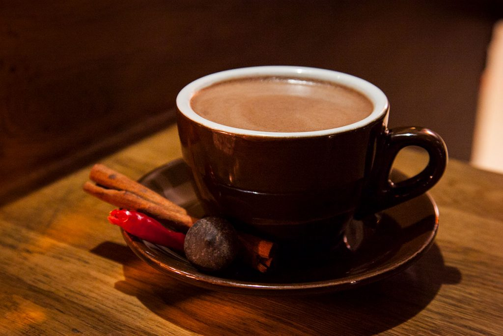 Where to get hot chocolate in Shanghai. Hot chocolate at Maya, a Mexican restaurant in Shanghai.