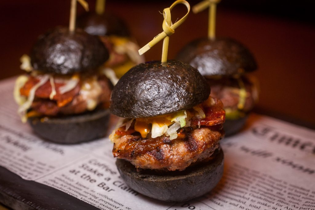 UP Shanghai is a cocktail bar/lounge in Shanghai. Bar Bites: Beef and Bacon Sliders