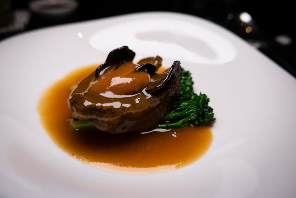 Chilean Abalone on the Chinese New Year Menu at Hakkasan Shanghai. Photo by Rachel Gouk.