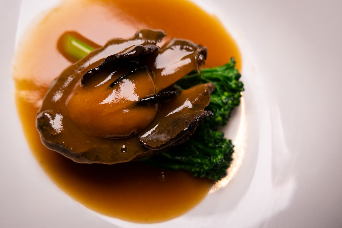 Chilean Abalone on the Chinese New Year Menu at Hakkasan Shanghai. Photo by Rachel Gouk
