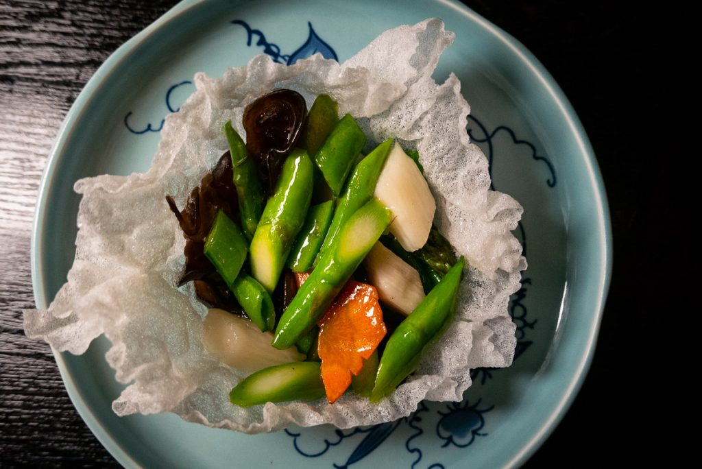 Vegetables on the Chinese New Year Menu at Hakkasan Shanghai. Photo by Rachel Gouk.