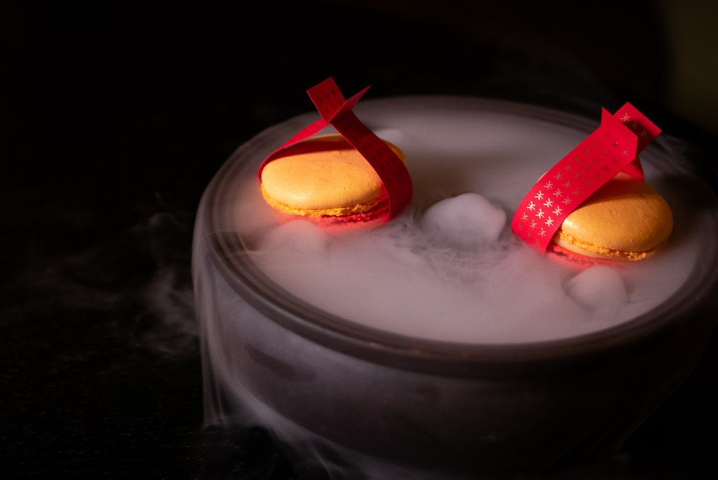 Macarons on the Chinese New Year Menu at Hakkasan Shanghai. Photo by Rachel Gouk.
