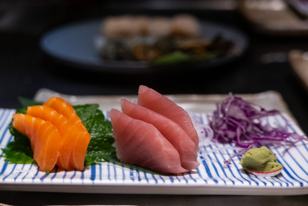 Sashimi at Kagen, a popular Japanese teppanyaki restaurant in Shanghai. Photo by Rachel Gouk.
