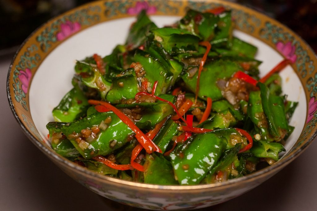 Dragon beans at Lion, a contemporary Nanyang restaurant in Xintiandi, Shanghai.  Photo by Rachel Gouk.