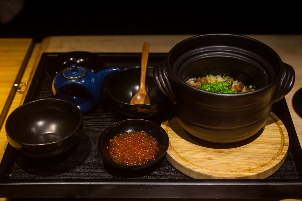 Donabe rice at Nakama, a Japanese restaurant in Shanghai specializing in high-grade beef yakiniku. Photo by Rachel Gouk.