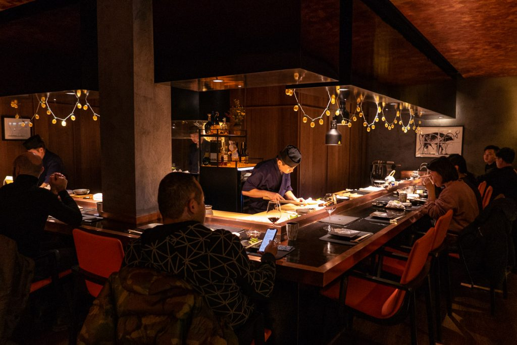 Nakama, a Japanese restaurant in Shanghai specializing in high-grade beef yakiniku. Photo by Rachel Gouk.