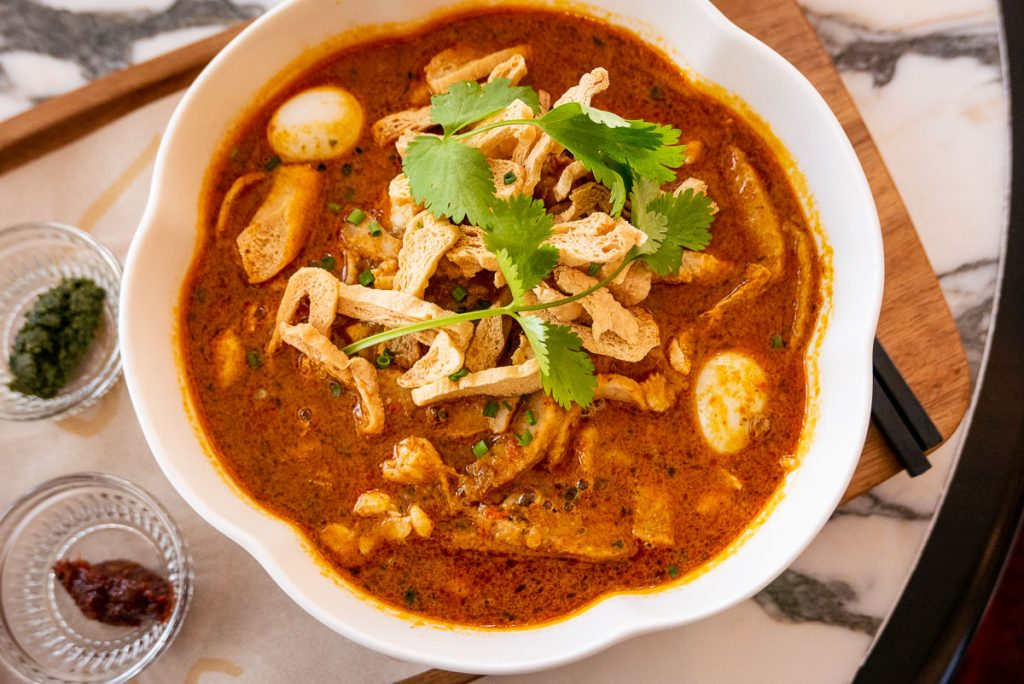 Singapore's popular PS.Cafe opens in Shanghai. Malaysian Crab and Prawn Laksa. Photo by Rachel Gouk.