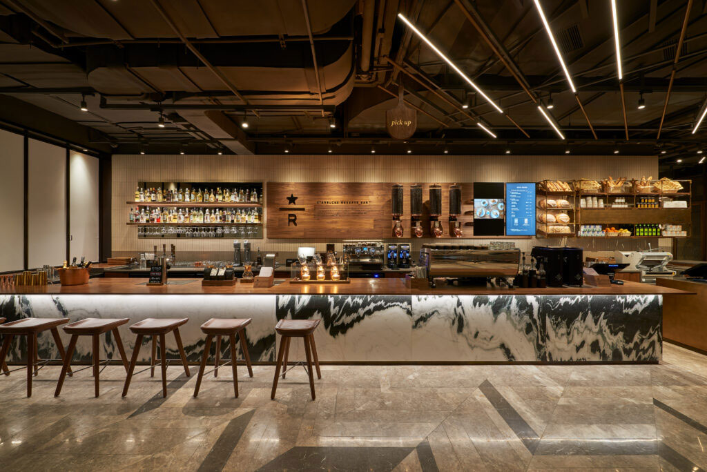 Starbucks Reserve Bakery Cafe in Shanghai, China.