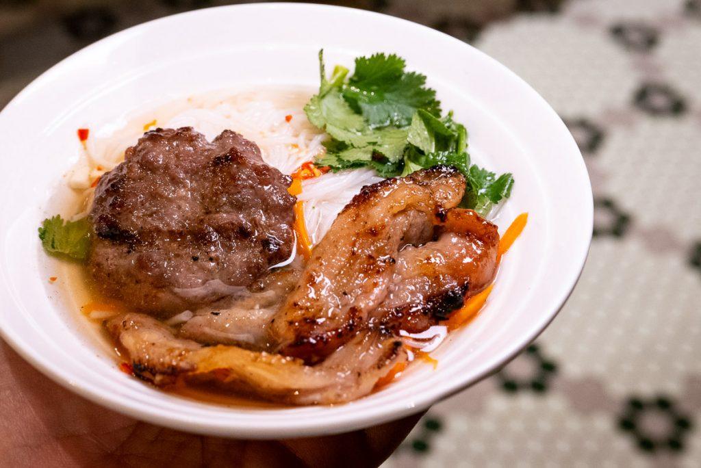 Fish sauce dipping bowl at Bun Cha Cha, a Vietnamese restaurant in Shanghai specializing in bun cha. Photo by Rachel Gouk.