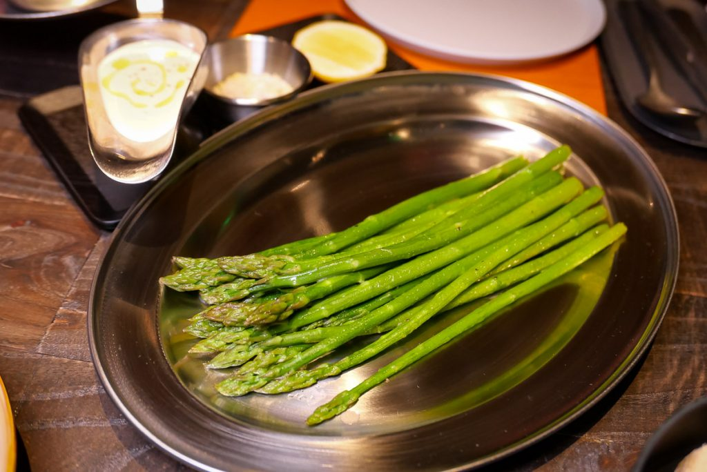 Asparagus Essential at Polux by Paul Pairet, a French cafe/bistro in Xintiandi. Photo by Rachel Gouk. © Rachel Gouk