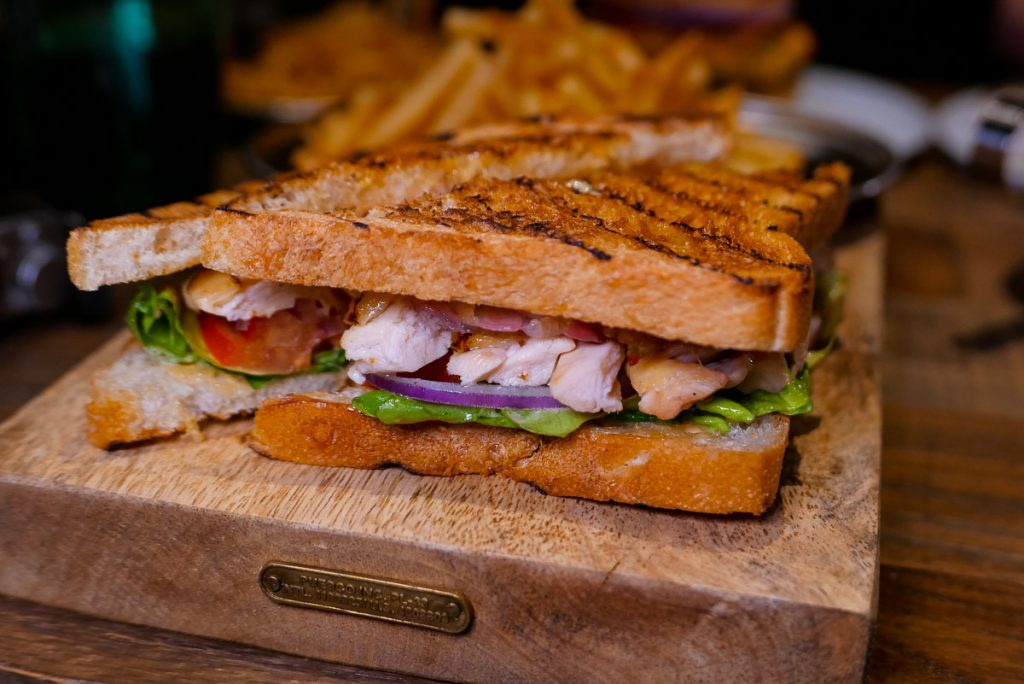 Real Double Decker Club Sandwich at Polux by Paul Pairet, a French cafe/bistro in Xintiandi. Photo by Rachel Gouk. © Rachel Gouk