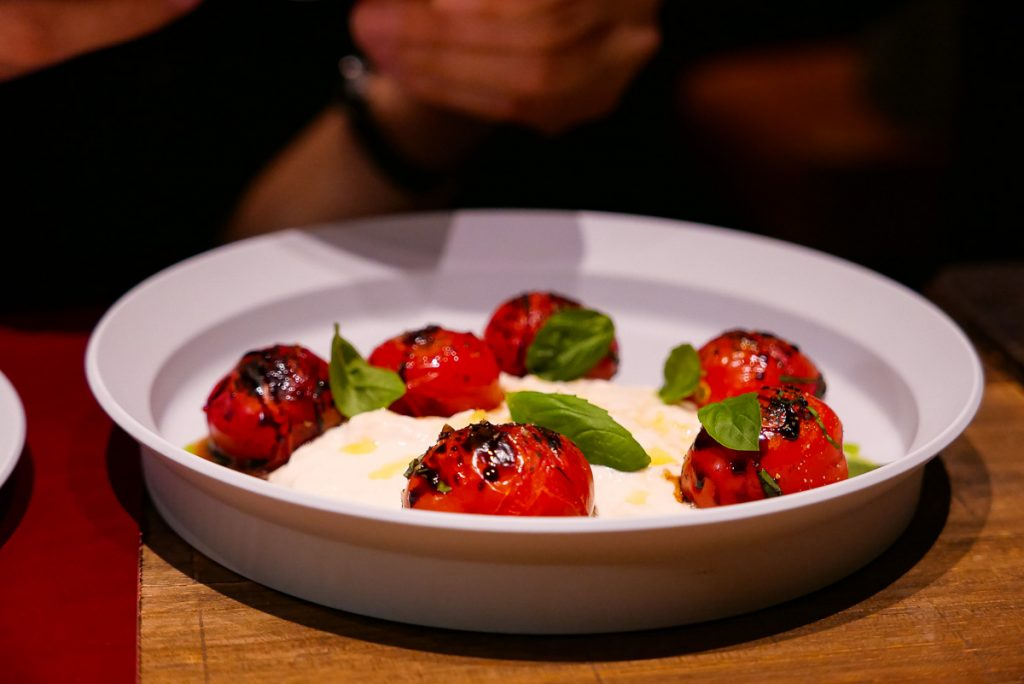 Tomato Burrata at Polux by Paul Pairet, a French cafe/bistro in Xintiandi. Photo by Rachel Gouk. © Rachel Gouk