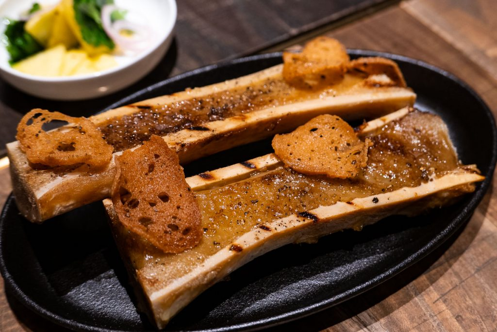 Scorched Bone Marrow at Polux by Paul Pairet, a French cafe/bistro in Xintiandi. Photo by Rachel Gouk. © Rachel Gouk
