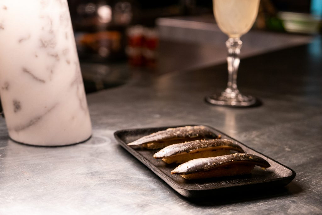 Sardine on Toast at Polux by Paul Pairet, a French cafe/bistro in Xintiandi. Photo by Rachel Gouk. © Rachel Gouk