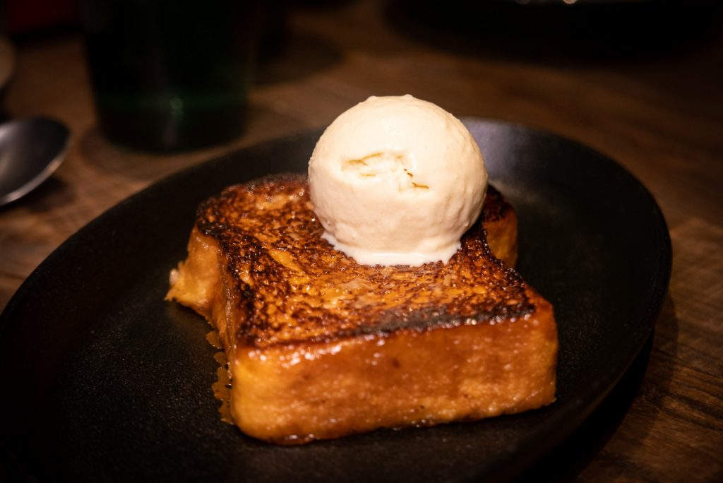 French toast at Polux by Paul Pairet, a French cafe/bistro in Xintiandi. Photo by Rachel Gouk. © Rachel Gouk