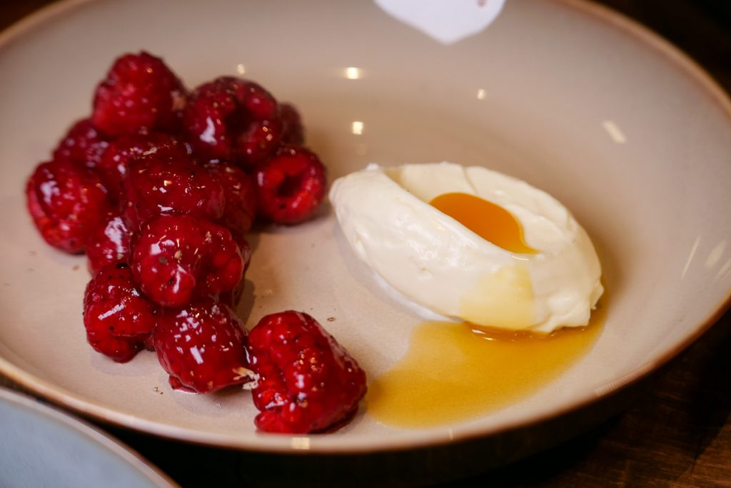 Raspberries Essential at Polux by Paul Pairet, a French cafe/bistro in Xintiandi. Photo by Rachel Gouk. © Rachel Gouk