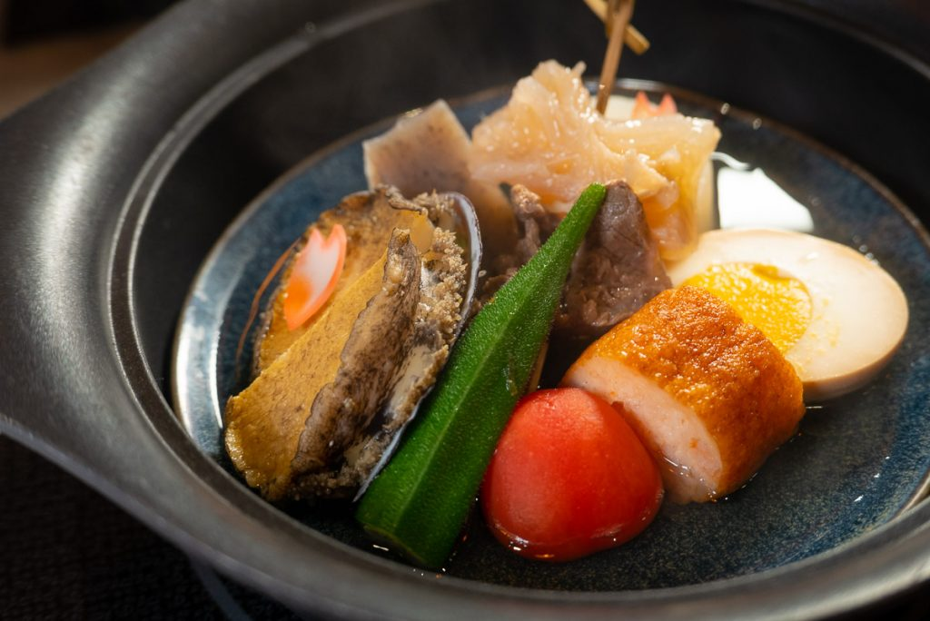 The Oden by Kanpai Sake School, a Japanese restaurant and sake bar on the Bund. Photo by Rachel Gouk.