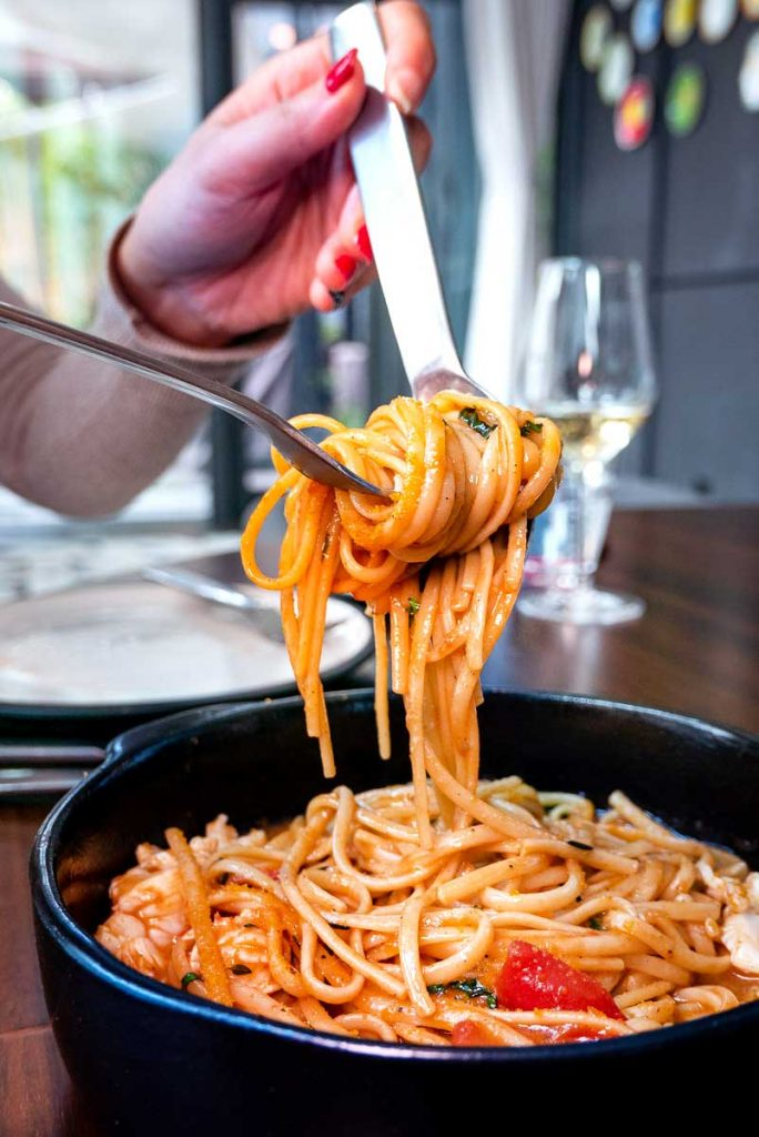 Lobster linguini at Frasca Italian restaurant at the Middle House, Shanghai. Photo by Rachel Gouk.