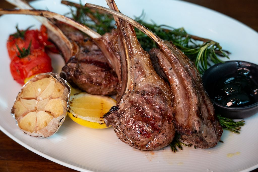 Lamb chops at Frasca Italian restaurant at the Middle House, Shanghai. Photo by Rachel Gouk.