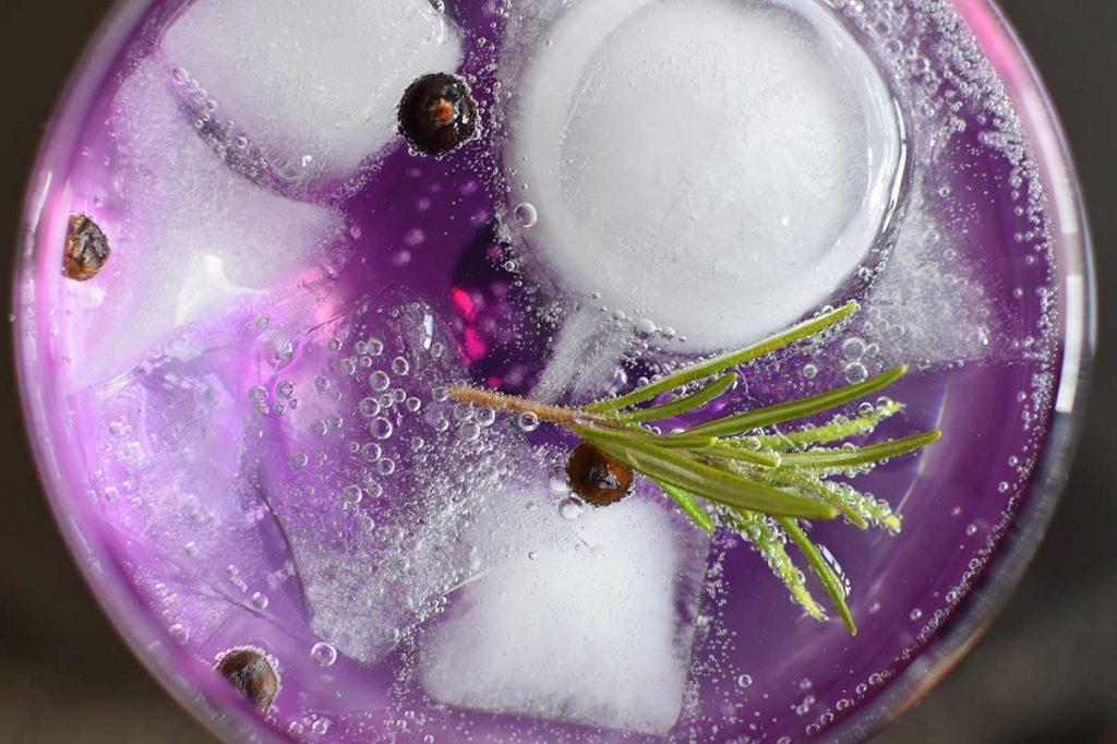 Pink or violet gins