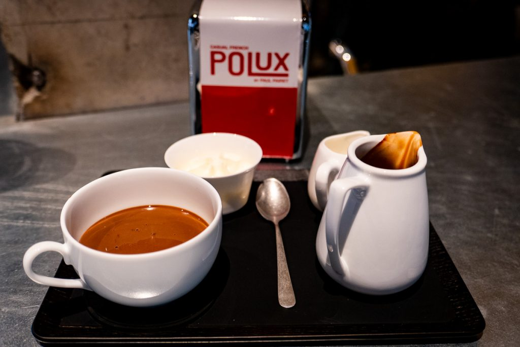 Hot chocolate at Polux, a cafe by Paul Pairet in Xintiandi, Shanghai. Photo by Rachel Gouk