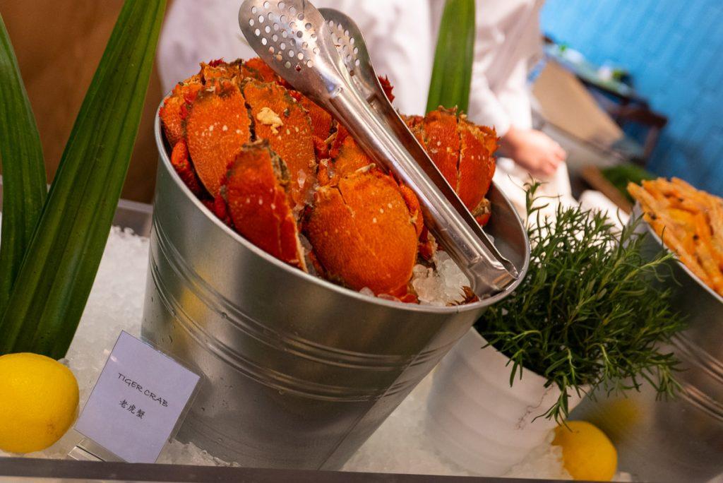 Fresh seafood at The brunch buffet at Portman's Restaurant, Portman Ritz-Carlton Shanghai. Photo by Rachel Gouk.