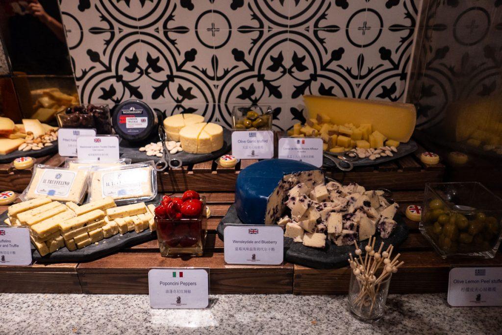 Cheese at The brunch buffet at Portman's Restaurant, Portman Ritz-Carlton Shanghai. Photo by Rachel Gouk.