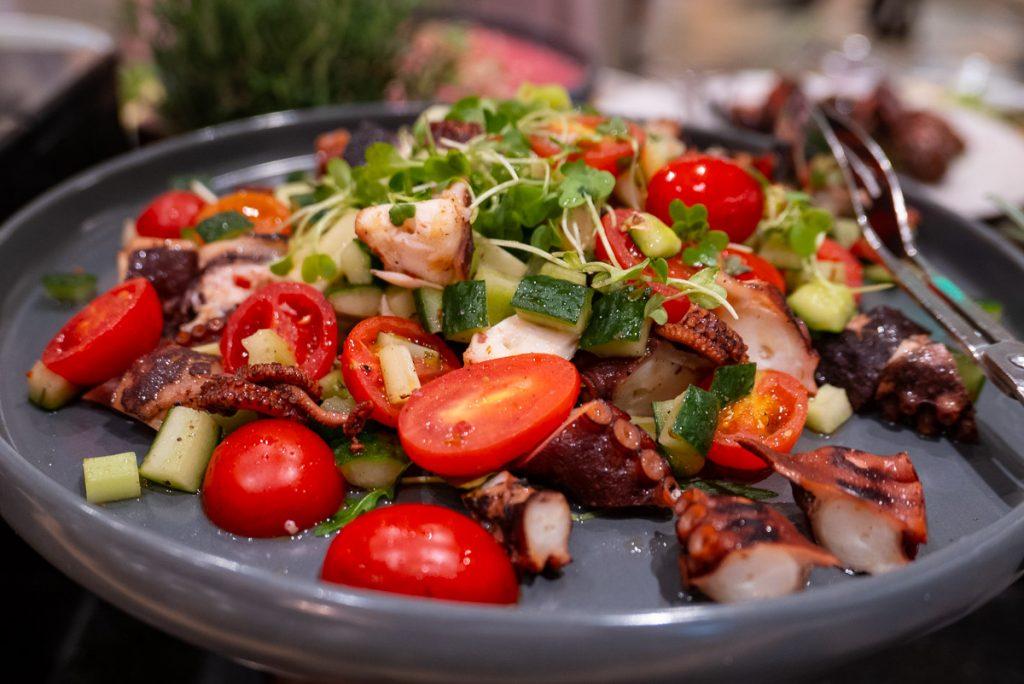 Appetizers at The brunch buffet at Portman's Restaurant, Portman Ritz-Carlton Shanghai. Photo by Rachel Gouk.