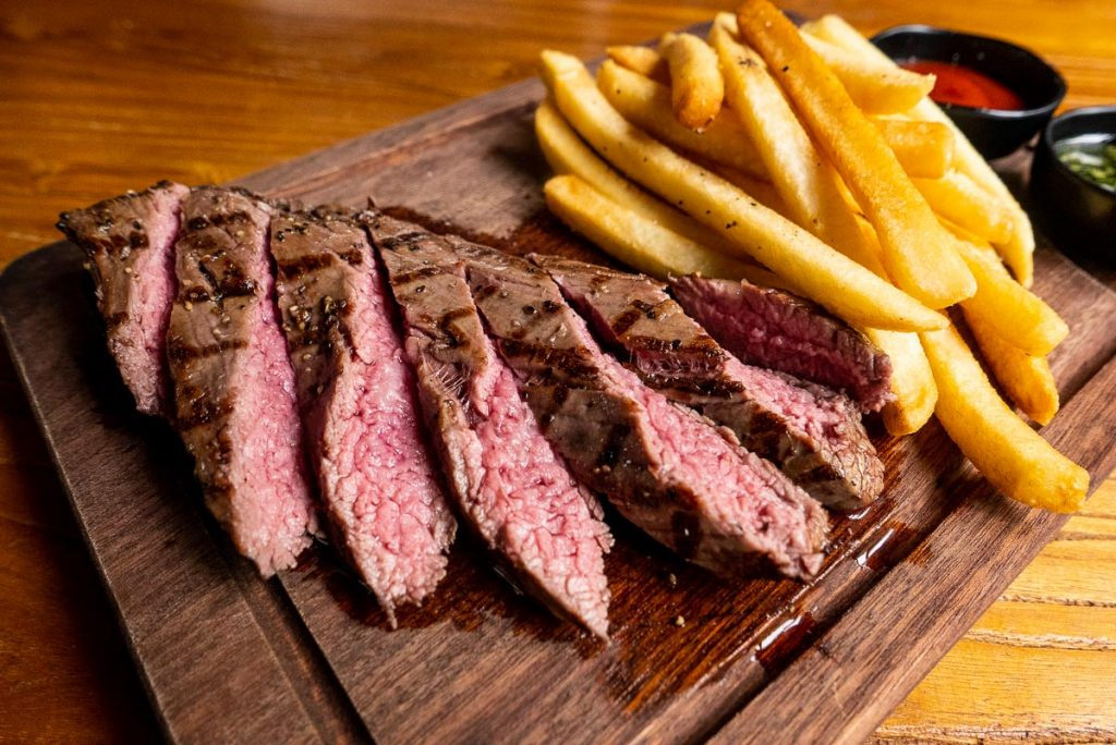 Steaks at el Bodegon, Argentinian steakhouse in Shanghai. Photo by Rachel Gouk.