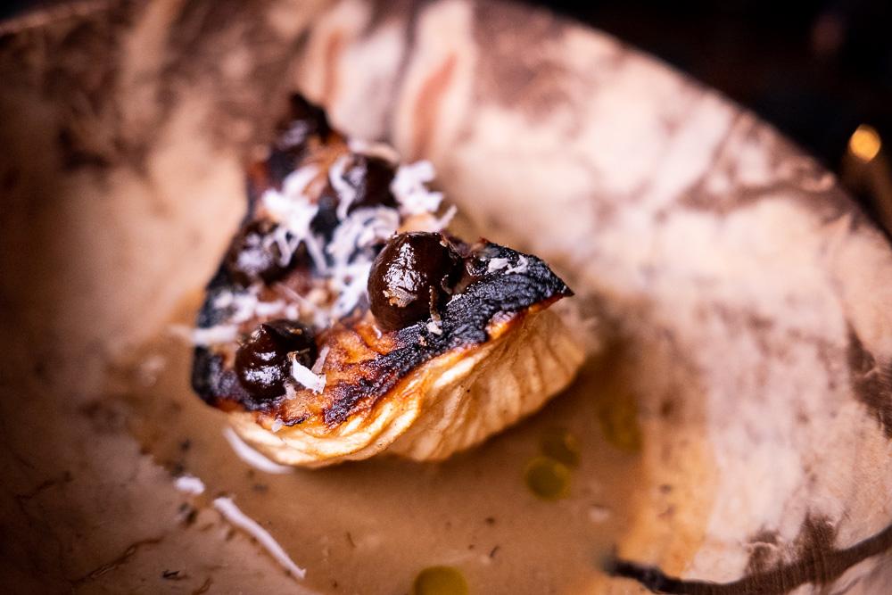 Coconut heart at Botanik, a seasonal, mostly plant-based sustainable restaurant in Shanghai. Photo by Rachel Gouk.