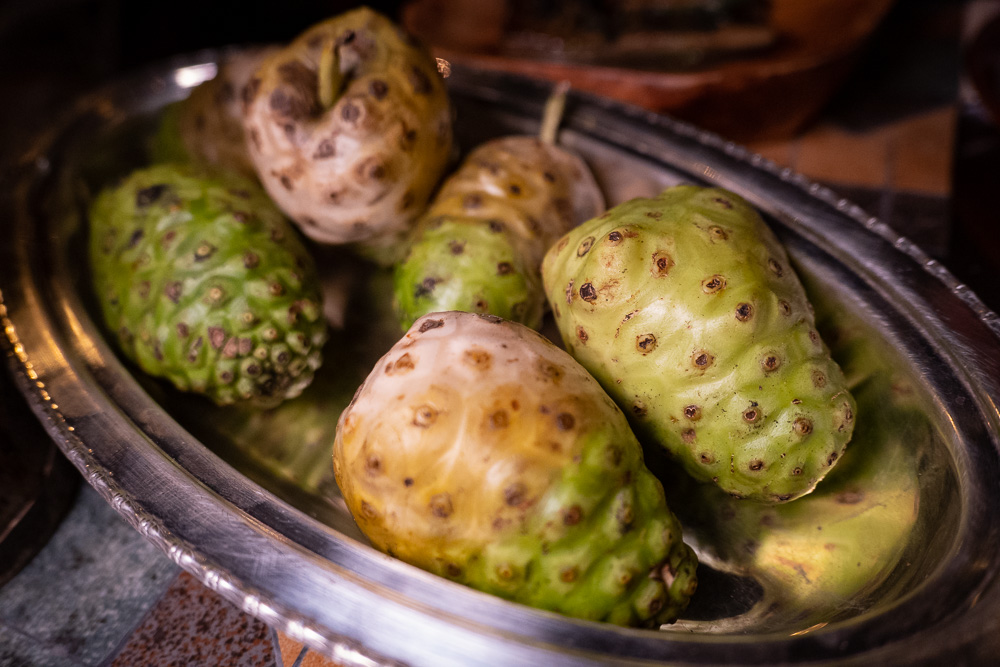 Noni fruit at Botanik, a seasonal, mostly plant-based sustainable restaurant in Shanghai. Photo by Rachel Gouk.