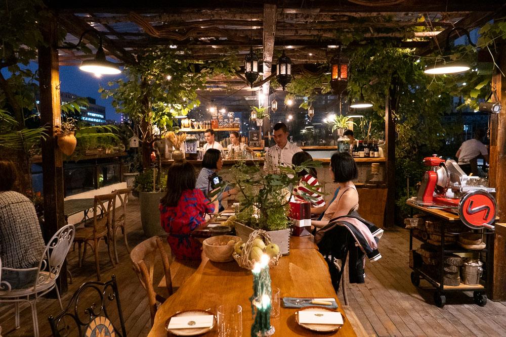 Botanik, a seasonal, mostly plant-based sustainable restaurant in Shanghai. Photo by Rachel Gouk.