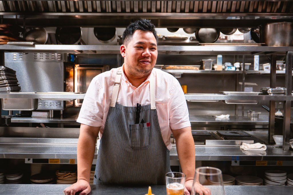 Chef Austin Hu of Heritage by Madison. Photo by Rachel Gouk.
