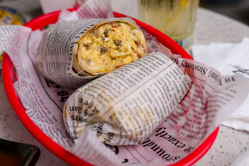 Ultimate Burrito for brunch at UP Shanghai, a bar/nightclub in Shanghai. Photo by Rachel Gouk.