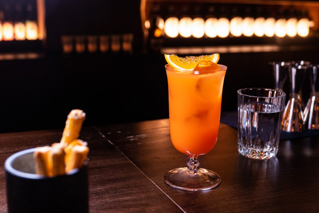 Campari with barbecued orange at Arch by Taste Buds — a cocktail bar in Shanghai. Photo by Rachel Gouk.
