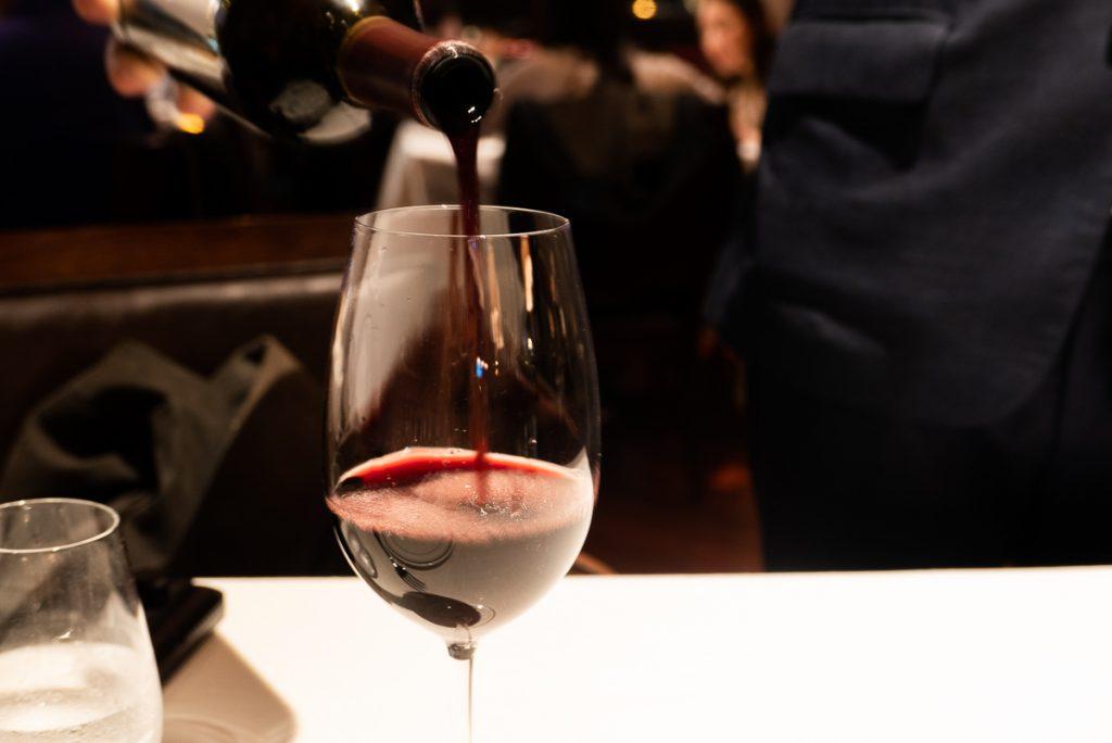 Wine at Wolfgang's Steakhouse Shanghai. Photo by Rachel Gouk.