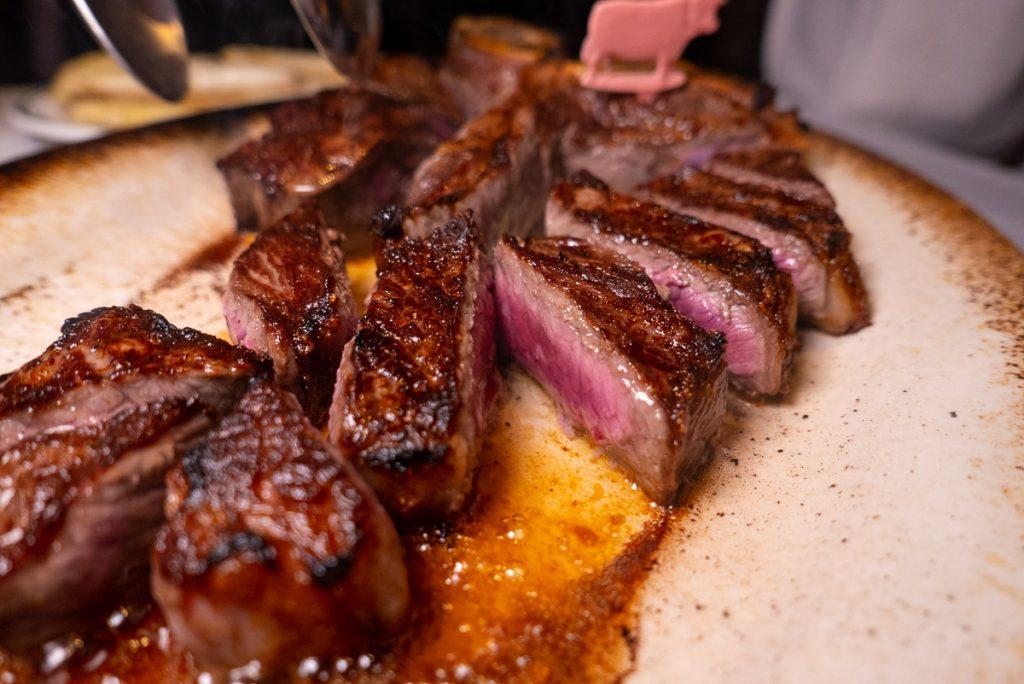Wolfgang's Steakhouse Shanghai: dry aged premium USDA steaks at this restaurant. Photo by Rachel Gouk.