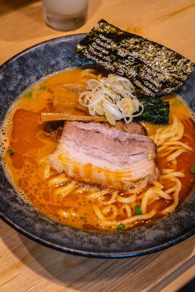 Ramen Mitsuyoshi (满吉拉面), a small ramen shop that does traditional Japanese noodles. Photo by Rachel Gouk.