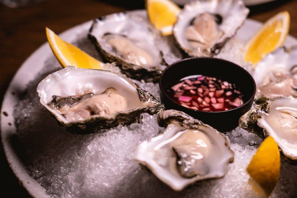 Oyster at BOR Eatery, a restaurant in Shanghai. Photo by Rachel Gouk