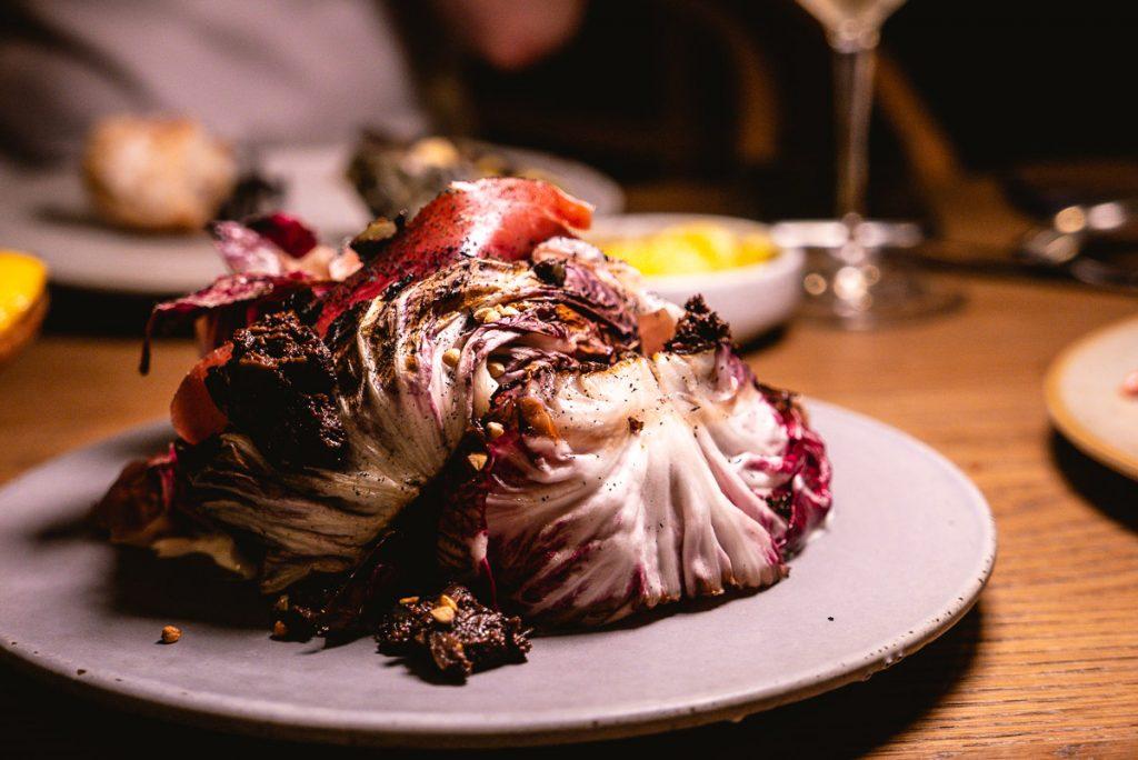 Grilled raddicchio  at BOR Eatery, a restaurant in Shanghai. Photo by Rachel Gouk