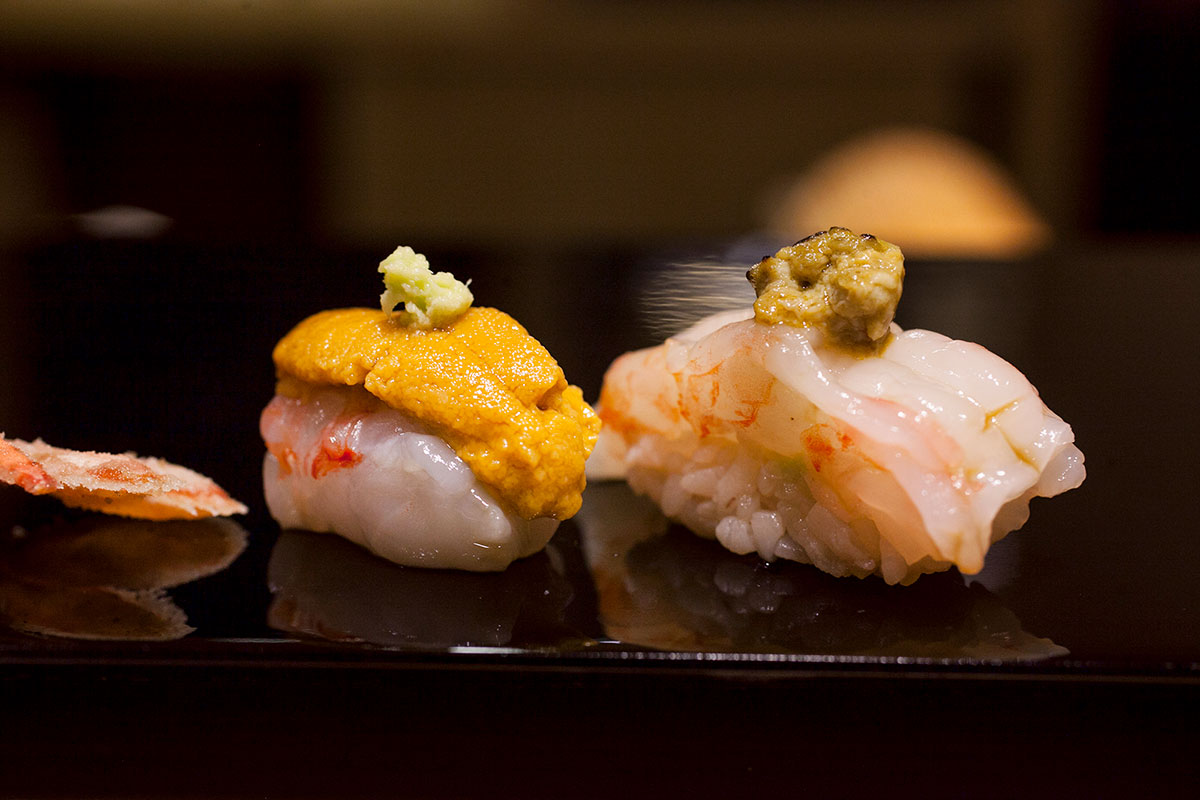 Sushi Naoki, a high-end Japanese restaurant in Shanghai that does a nigiri-based omakase menu. Photo by Rachel Gouk.