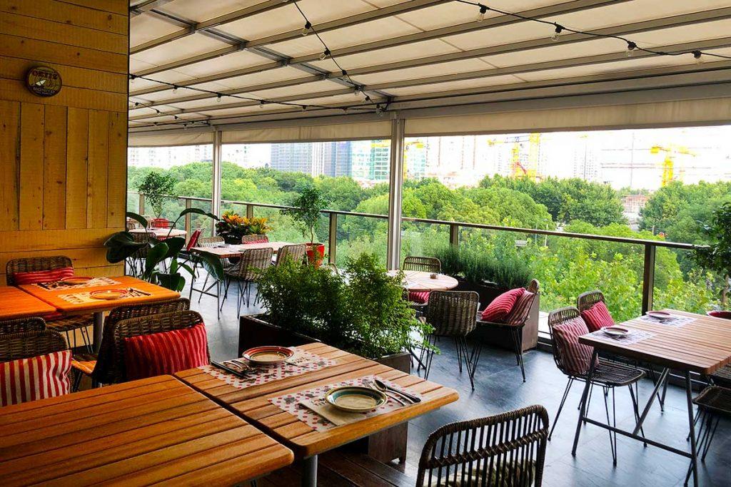 Spanish tapas restaurant Tomatito relocates to a mall in Xintiandi, Shanghai. Photo by Rachel Gouk