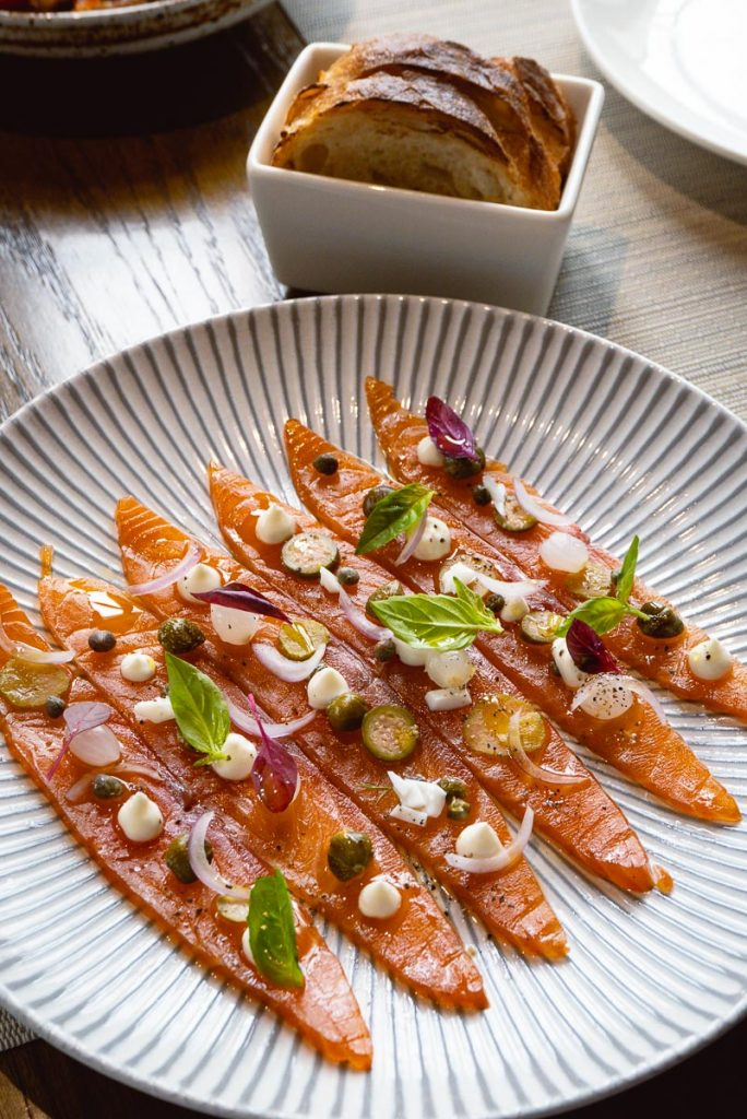 Smoked salmon for for Brunch at Atto Primo on the Bund, an Italian restaurant in Shanghai. Photo by Rachel Gouk.